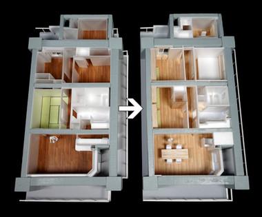 大規模マンションの角部屋