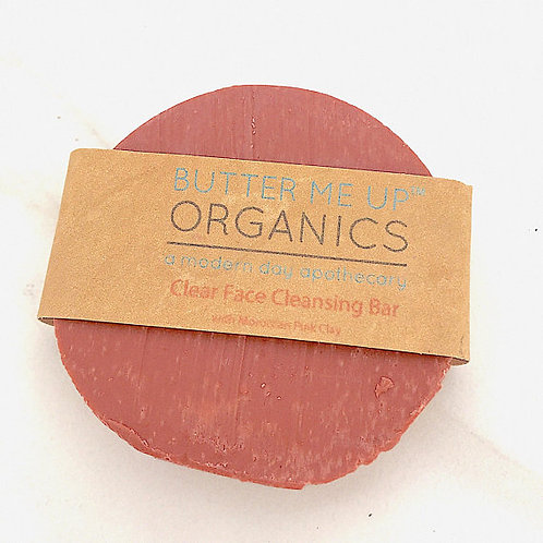 Organic Facial Bar / Organic Face Soap / Rose Clay