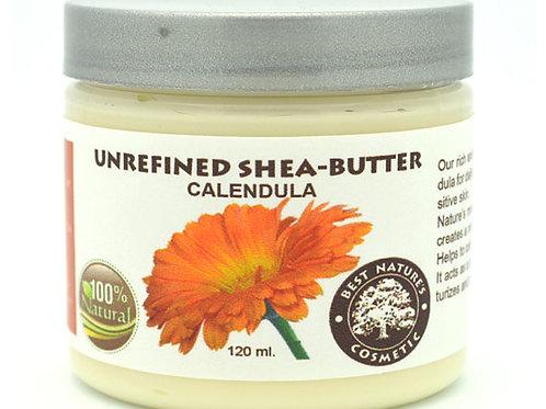 Unrefined Shea - Calendula Butter. Helps to calm