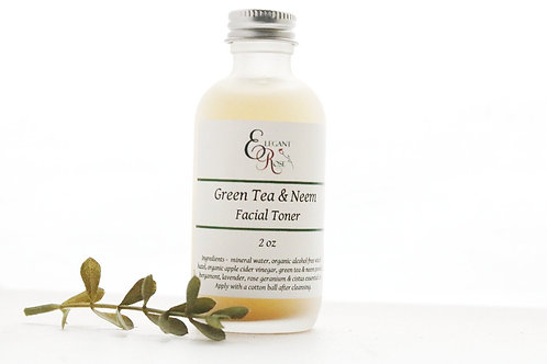 Green Tea & Neem Facial Toner -  for Oily/Acne