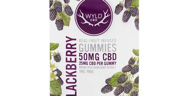 Wyld CBD - CBD Edible - Blackberry Gummies - 25mg