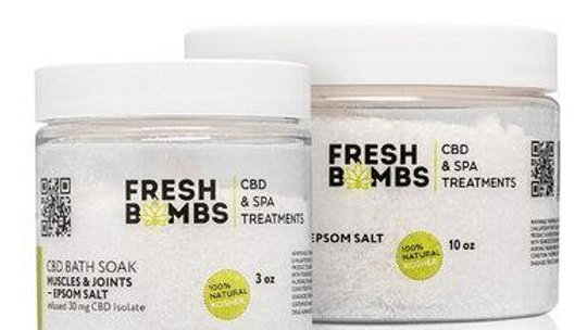 Fresh Bombs - CBD Bath - Muscle and Joint Bath Soak - 30mg-100mg