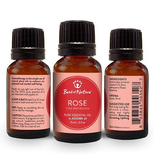 Rose Absolute Essential Oil blended with Jojoba