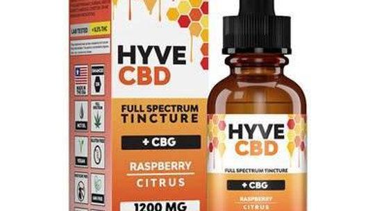 Hyve CBD - CBD Tincture - Full Spectrum Raspberry Citrus+CBG - 300mg-1200mg