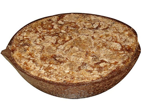 African Black Soap in a Coconut Shell. Weight