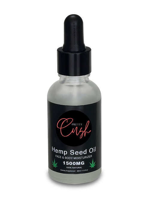 Pretty Cush Hemp Seed Moisturizing Oil - Premium Grade-1500mg