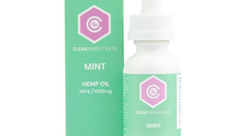 Clear Bright Days - CBD Tincture - Mint - 1000mg