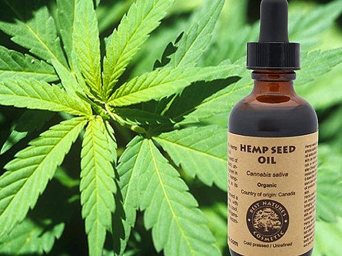 100% Pure Hemp Seed Oil Organic, cold pressed,