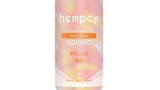 Hempcy - CBD Edible - Peach Ring Gummies - 250mg-1000mg