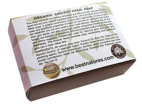 Organic Ancient Neem Soap.  Natural SLS Free.