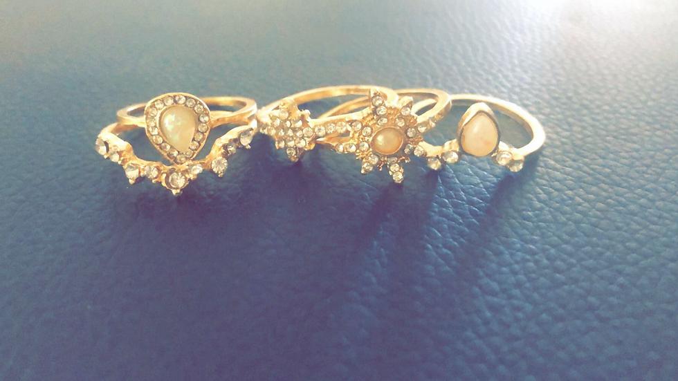 Moonstone & Diamond Rings