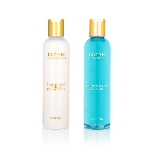 Skin Care Cleansing Set - Alcohol-Free Toner and Purifying Milk