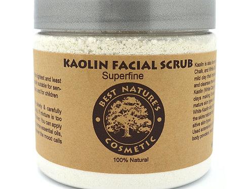Kaolin Facial Scrub. Mask for sensitive skin.