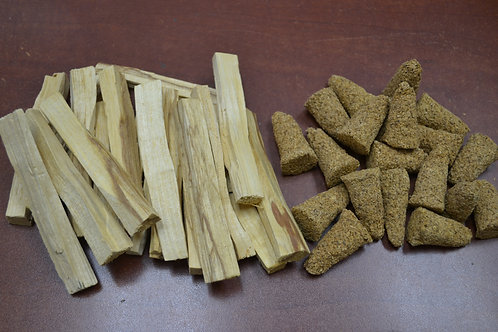 20 Pcs Palo Santo Cones & Sticks - Refill Kit