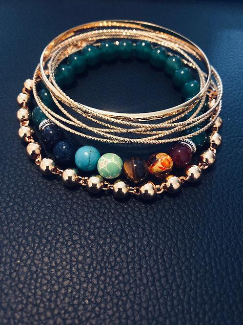 Grounded Bracelet Set