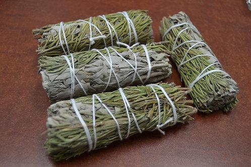 4 Pcs White Sage + Rosemary Bundle Smudge