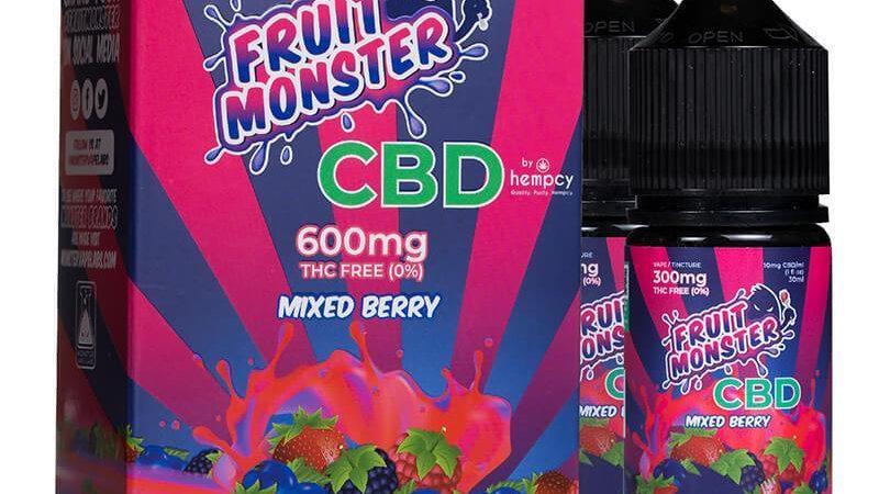 Fruit Monster CBD - CBD Vape - Mixed Berry - 600mg-2400mg