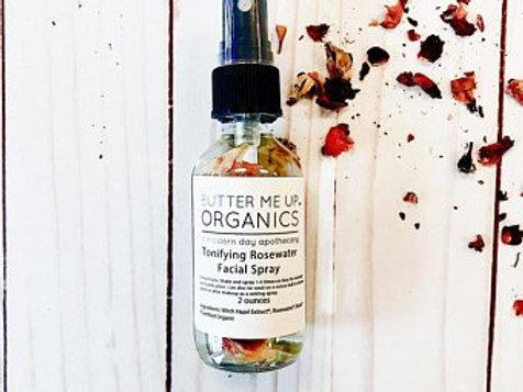 Organic Rose Water Facial Setting Spray Makeup