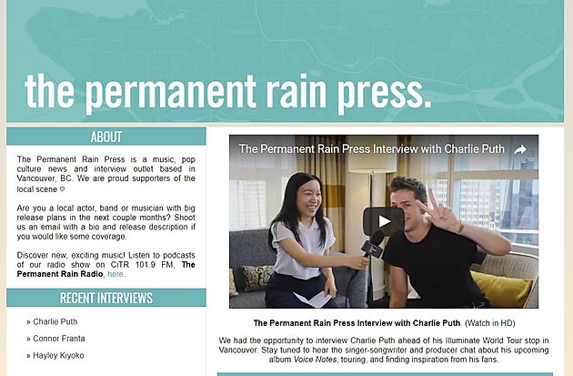 Chloe and Natalie Hoy Founder and Co-founder of The Permanent Rain Press  founded in 2012 have been working hard these past 5 years. Along with their  team 929c453e7e90