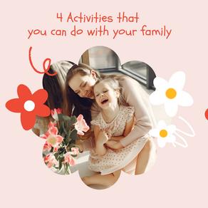 Family Bonding Activities (Virtually too!)