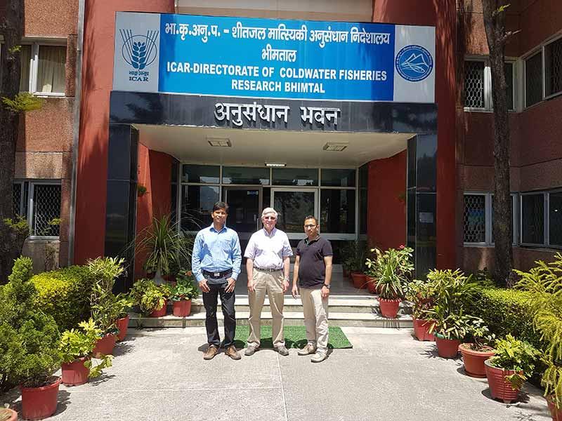 Mahseer Trust Chair, Ian Pett visits ICAR-DCFR