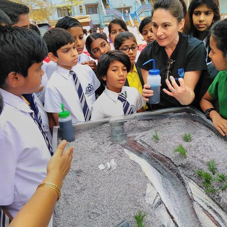 Schoolkids learn river processes