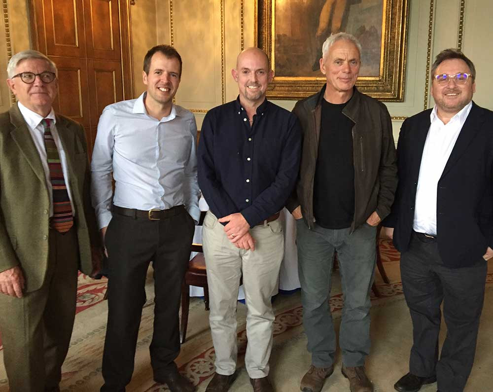Left to right: Ian Pett (MT Chair), Andy Harrison (MT Trustee), Adrian Pinder (MT Trustee), Jeremy Wade and Mike Baltzer (Shoal)