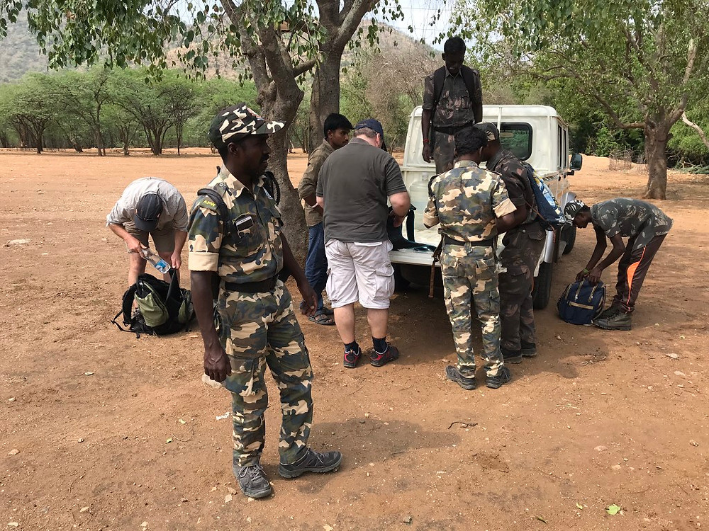 The project team are very grateful to the Tamil Nadu Forest Department for providing logistical support and forest guards to guide us safely on foot through the tiger reserve.