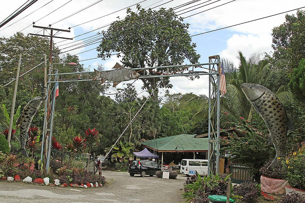 The entrance to Kampung Luanti