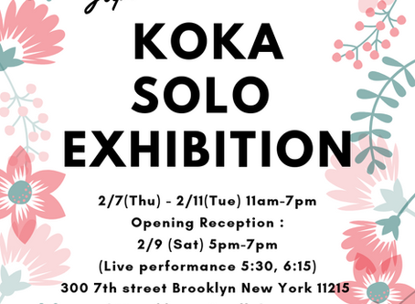 KOKA solo exhibition is coming soon!!