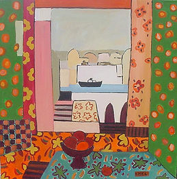 Natalie MIEL Window on Orient 60x60cm.jp