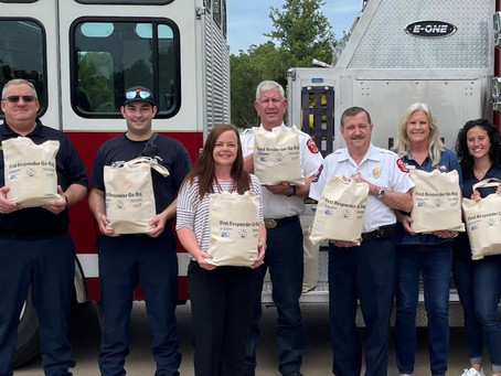 Local firefighters receive 'go bags' to give to residents in need. You're going to love this.