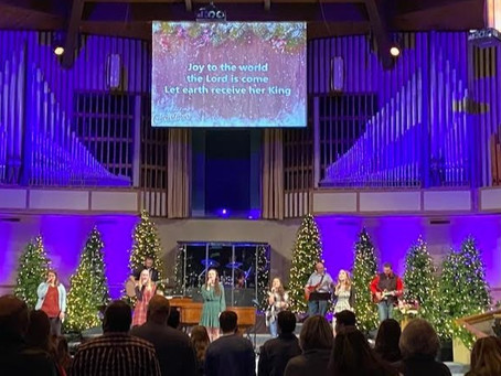 Nothing lifts the spirit like singing Joy to the World in church.