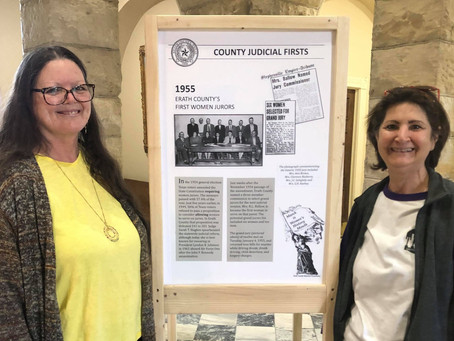 Local historical committee pays tribute to Women's History Month with courthouse display.
