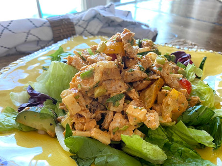 Simple and delicious: This recipe for Tex-Mex chopped chicken salad is perfect for summer.