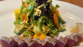 Enjoy a wine lunch on a Fort Worth patio with big yellow umbrellas. And get the ahi tuna salad.
