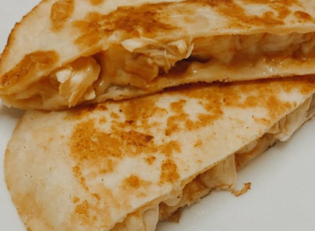 Buffalo chicken quesadillas combine the tastiness of our favorite foods.