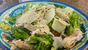 Jump into spring with this broccoli, sun dried tomato and chicken Caesar salad.
