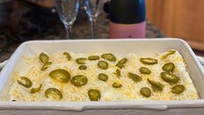The Husband's favorite Tex Mex sour cream chicken enchiladas are on tonight's dinner menu.