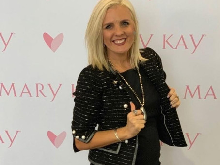 Mary Kay sales director stays connected with clients through virtual consultations and home delivery