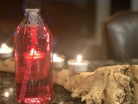 Put on a scarf, crank up the A/C and head to Frames Etc for a bottle of Frosted Cranberry hand soap.