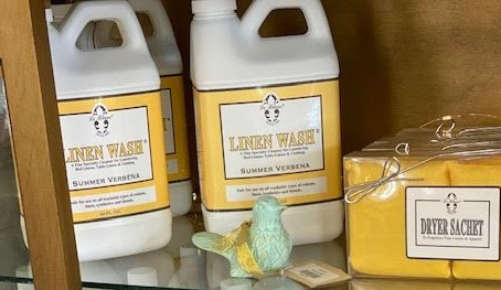 Make your sheets smell like summer with this fancy linen wash I picked up from Julianne's.