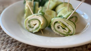 Summertime clean-eating: Enjoy these turkey and cheese cucumber rolls for a tasty win.