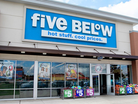 Five Below is latest retailer to join Ulta Beauty and Hobby Lobby at new retail center.