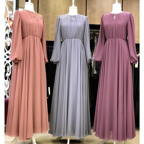 PLAIN GOWN (Pink, Grey & Violet)