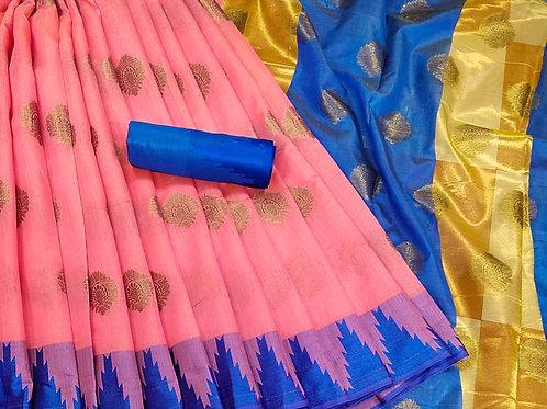 Pattu Style Print Saree