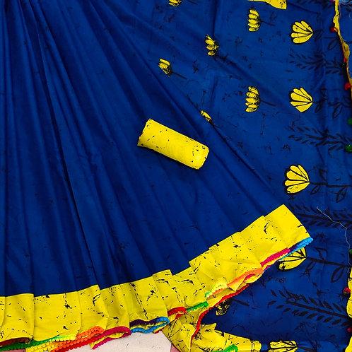 Handloom Soft Cotton Banaras Zari - 2