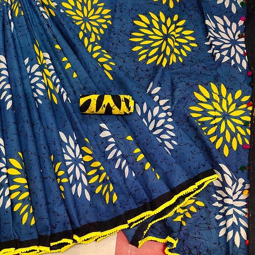 Handloom Soft Cotton Banaras Zari - 11