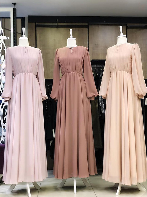 PLAIN GOWN (Pink Shades)
