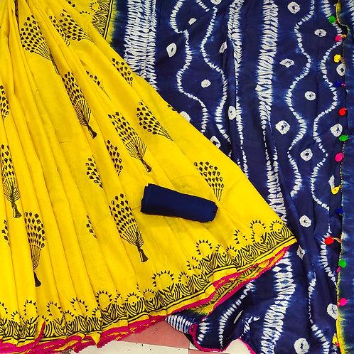 Handloom Soft Cotton Banaras Zari - 5